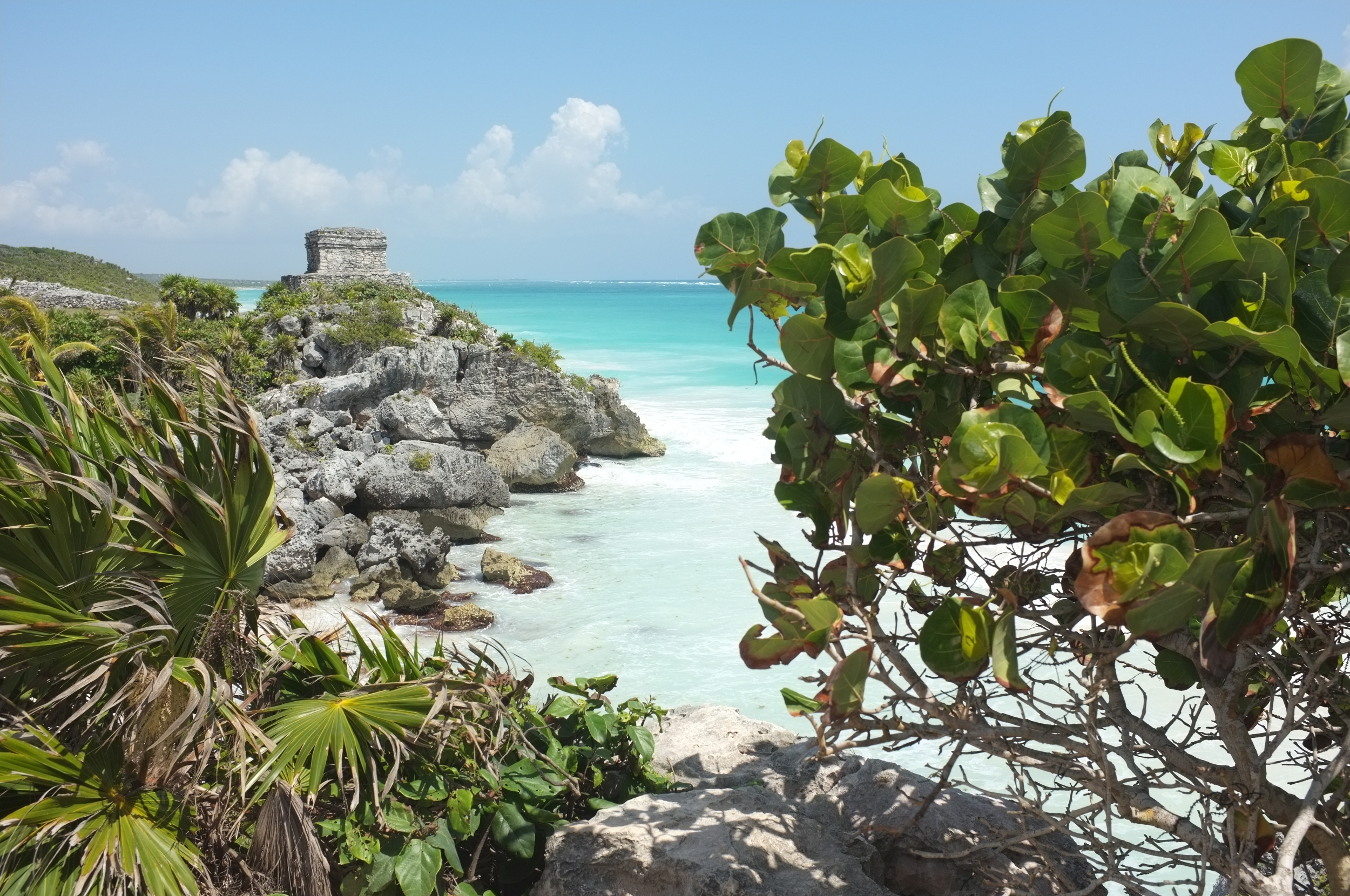 The ocean from Tulum