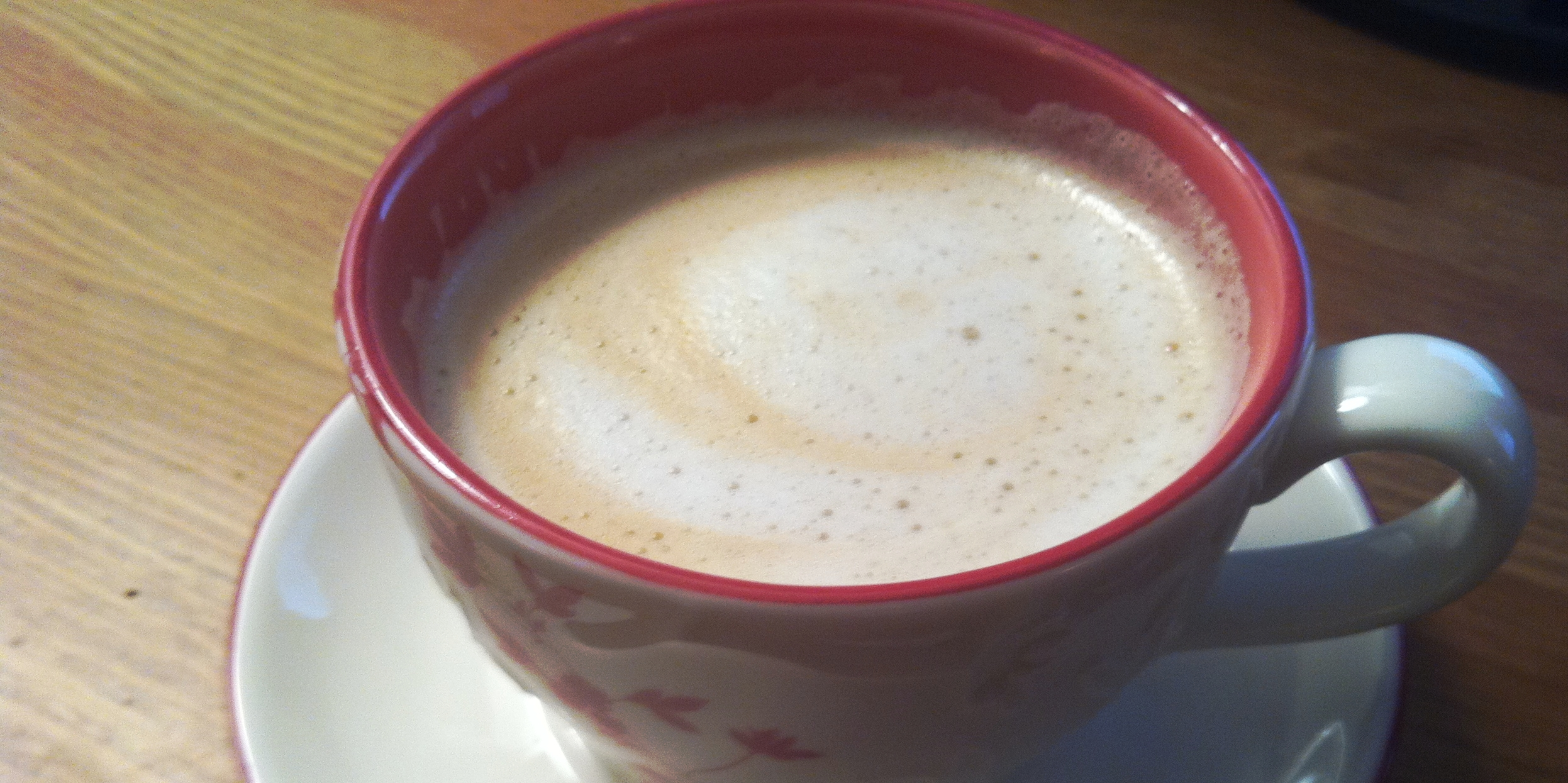 My Earl Grey white chocolate ganache latte; my latte art skills are lazier than theirs