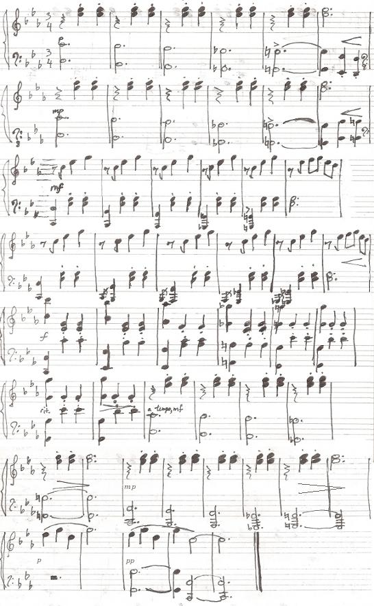 Une petite valse en jazz score